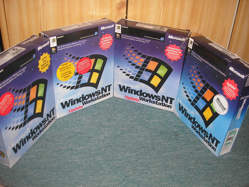 Meine Windows NT4 Workstation Retail Sammlung